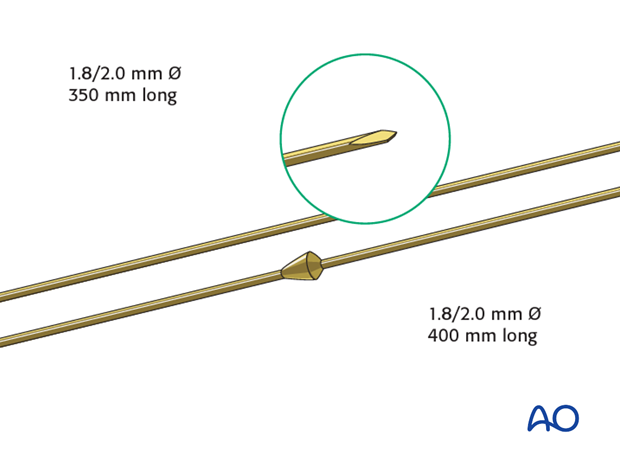 Reduction wires for hybrid external fixation