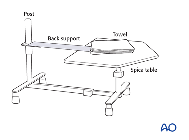 Hip spica table