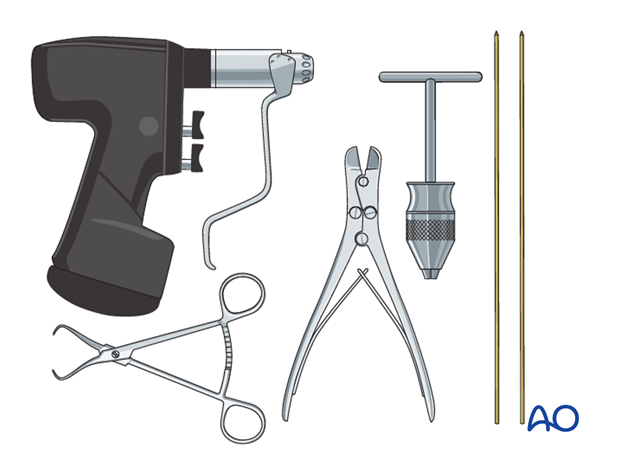 Instruments and implants for closed reduction and K-wire fixation
