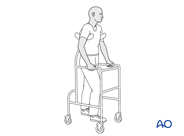 Patient mobilization with limited weight bearing